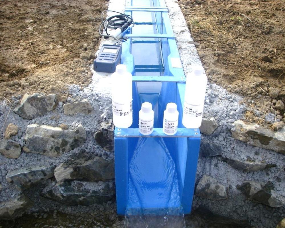Mise en place d'un canal Venturi pour jaugeage et suivi qualité